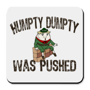 The crime took part a long time ago - but the case is opened again: Humpty Dumpty was pushed ! Show your concern and help the Kings men by buying this t-shirt ! Humpty Dumpty sitting on the wall, with faded text design.