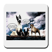 A beautiful piece of art of your favorite dog or cat on a raft, and HUNGRY! Aprons, Tshirts, Mousepads, Coasters and more. Check this one out.