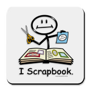 This BusyBodies scrapbooking stick figure makes a great gift for the scrapbooker!
