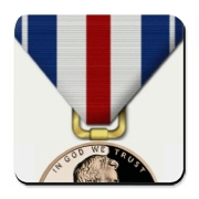 Pennies For Heroes Medal Cork Bottom Coaster