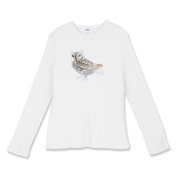 Women's Fitted Baby-rib Long-sleeved T-shirt
