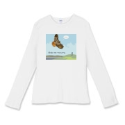 Fitted Baby-rib Long-sleeved T-shirt - from the I am a Hawkwatcher series!