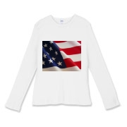 OLD GLORY -  Women's Fitted Baby Rib Long Sleeve T