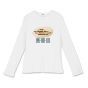 Distance Women's Fitted Baby Rib Long Sleeve Tee