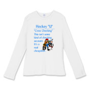 Cross Checking Women's Fitted Baby Rib Long Sleeve