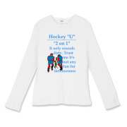 2 on 1 Women's Fitted Baby Rib Long Sleeve Tee