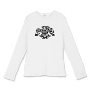 Inuet Eagle Women's Fitted Baby Rib Long Sleeve Te