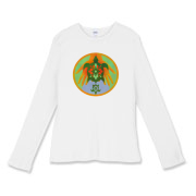 Turtle Hands Women's Fitted Baby Rib Long Sleeve T