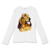 Blood Hound Womens Fitted Baby Rib Long Sleeve Tee