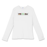Bright Logo Women's Fitted Baby Rib Long Sleeve Te