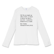 Watch Attack Women's Fitted Baby Rib Long Sleeve T