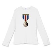 Pennies For Heroes Medal Women's Fitted Baby Rib L