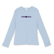Pornorama Women's Fitted Baby Rib Long Sleeve Tee