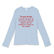 Good Old Days Women's Fitted Baby Rib Long Sleeve
