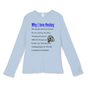 Why I Love Hockey Women's Fitted Baby Rib Long Sle