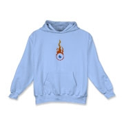 Flaming eye Kids Hooded Sweatshirt