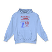 Slugging Percentage Kids Hooded Sweatshirt