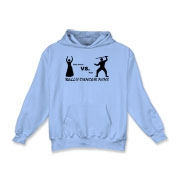 belly dancer vs. ninja Kids Hooded Sweatshirt