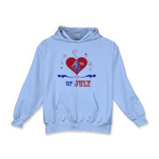 July 4th t-shirts, sweatshirts and gear for kids and adults featuring red white and blue heart with stars for a star-spangled independence day! Original 4th of July merchandise from <a href=http://www.lesrubadesigns.com target=_blank>Lesruba Designs</