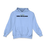 Chillin' With My Peeps Kids Hooded Sweatshirt