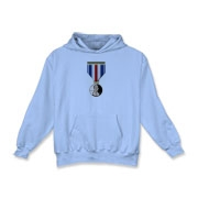 Pennies For Heroes Medal Kids Hooded Sweatshirt