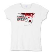 If I Die... Women's Fitted Baby Rib Tee