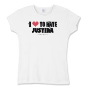 I Love To Hate Justina Women's Fitted Baby Rib Tee