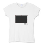 Create Solid Women's Fitted Baby Rib Tee