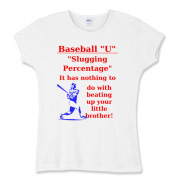 Slugging Percentage Women's Fitted Baby Rib Tee