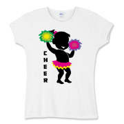 This cute cheerleader is waving her pom poms in the air. Has the word, Cheer written down the side. Makes a great gift for any cheerleader on your holiday shopping list!
