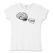 My Brain Women's Fitted Baby Rib Tee