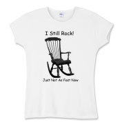 I Still Rock! Women's Fitted Baby Rib Tee