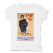 I Want You...for the Navy Women's Fitted Baby Rib
