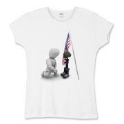 Fallen Soldiers Women's Fitted Baby Rib Tee