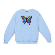 Blue butterfly design sweatshirt