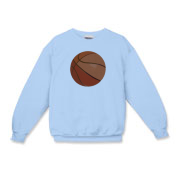 This Basketball Crewneck Sweatshirt features a basketball on the center front of the shirt.