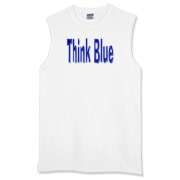 Wear a Think Blue t-shirt, tank top or sweatshirt and let everyone know you are working on the Democratic Campaign.