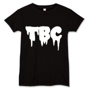 Think Big And Conquer white drip letters women's shirt.