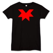 Red part star design Women's T-Shirt