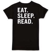 Red & White Logo/Eat Sleep Read T-Shirt