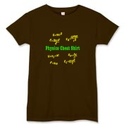 This women's humorous physics t-shirt is a Physics Cheat Shirt. It's loaded with scribbled mechanics motion equations. A great gift to the physics or engineering college student you know.
