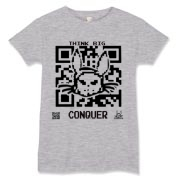 TBC Code t-shirt with QR Code created by Austin Lee.
