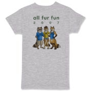 This is the official All Fur Fun 2007 tee, available in a selection of light colours.  (Okay, only light grey thus far....)