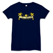 the blue version of the popular Holgoritaville t-shirt.