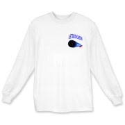 This nifty astronomy long sleeve t-shirt pocket emblem is perfect for the astronomer who prefers to do his stargazing with a refractor. It says: Astronomer, and has a depiction of a refractor telescope.