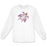 Winged Turtle - Purple Long Sleeve T-Shirt