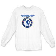 The Chelsea FC fan chant Carefree, wherever we may be, We are the famous CFC,