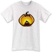 A fun-loving Jack-O-Lantern shirt for Halloween.