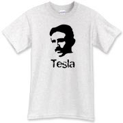 The face of Nikola Tesla, the great electrical genius shines on this great Tesla shirt.  The wizard himself would have invented this tee if he had time.  This shirt is the pinnacle of the Murchada Outfitters mad genius collection.