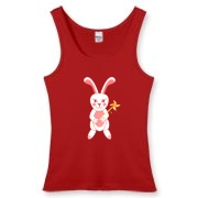 Celebrate Chinese New Year with this cute year of the metal rabbit shirt! This rabbit is happily carrying a red and gold pinwheel with bells! Also a great gift for someone who just loves rabbits! Red Version.